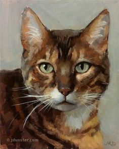 "Daily Paintworks - ""Zorn Cat"" - Original Fine Art for Sale - © J. Dunster"