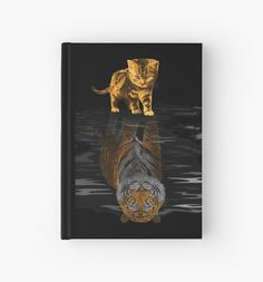 Cute little Hobbes Hardcover Journals #HardcoverJournals #Hard #lion #tiger #cat #bigcat #beautifulanimal #jungle #puma #stipestiger #stripesskins #calvinandhobbes