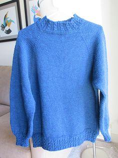 Ravelry: MaryPenn's Blue Raglan Pullover