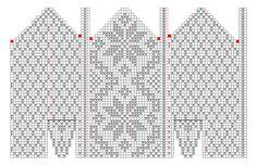 Варежки спицами — две схемы узоров
