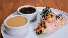 Folha de arroz com vegetais e molho cremoso de castanha: receita da Bela Gil para o Bela Cozinha (Foto: Reproduo/GNT)