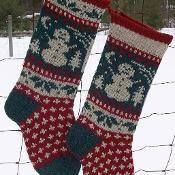Snowman Christmas Stocking Pattern - via @Craftsy