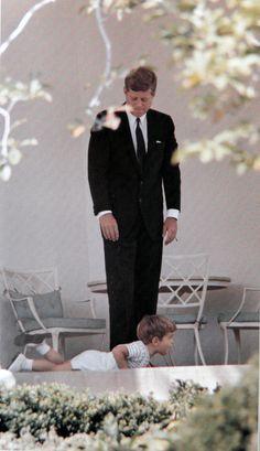 President John F. Kennedy & John jr.
