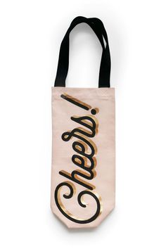 This 'Cheers!' wine tote will certainly have you ready for any party!