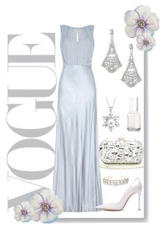 """pearl"" by pibobelebeep ❤ liked on Polyvore featuring Ghost, Bebe, Bling Jewelry, Gianvito Rossi and Essie"