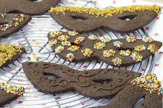 Sablés masques de carnaval chocolat