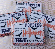 Halloween Microwave Popcorn Wraps - Cover - personalize - Assorted Patterns - Class Gift - Party Favor - Candy alternative by MyCutieBows on Etsy Halloween Popcorn, Halloween Favors, Halloween Treats, Halloween Baskets, Halloween Desserts, Halloween 2020, Holidays Halloween, Halloween Diy, Happy Halloween
