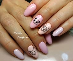 Check out the lovable, quirky, cute and exceedingly precise designs that are inspiring the freshest nail art tendencies and inspiring the most well liked nail art trends! Manicure Natural, Manicure And Pedicure, Oval Nails, Nude Nails, Gel Nail Art, Nail Polish, Romantic Nails, Nail Mania, Crazy Nails