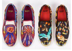 Upcycled sjaals: schoenen bekleed met Hermes sjaals!