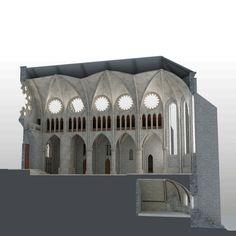 Colegiata de Roncesvalles. Sección longitudinal por la cripta. Big Ben, Building, Travel, 3d, Contemporary Architecture, Viajes, Buildings, Destinations, Traveling