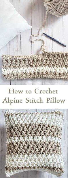 Best Absolutely Free Crochet pillow cover Tips Alpine Stitch Pillow Tutorial – Design Peak Crochet Cushion Cover, Crochet Pillow Pattern, Crochet Cushions, Knit Pillow, Crochet Pillow Covers, Diy Crochet Pillow, Cushion Covers, Crochet Home, Knit Or Crochet