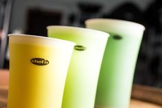 SleekStor® Pinch + Pour™ Measuring Beakers - 3 piece Set w/lids (two colors available!)