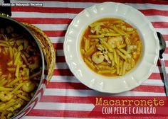 Fish and shrimp pasta Shrimp Pasta, Chili, Soup, Fish, Noodle, Pisces, Cook, Recipes, Shrimp Paste