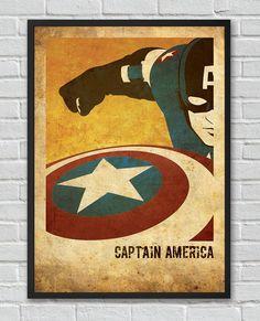 Captain America The Avengers inspired vintage movie by FlickGeek, $11.00