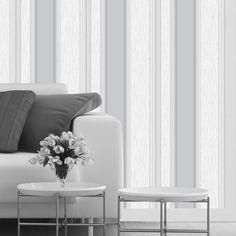 Vymura Synergy Striped Wallpaper Dove Grey / Silver / White (M0853