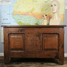 Antique Solid Wood (Oak) Chest or Blanket Box by Restored2bloved on Etsy
