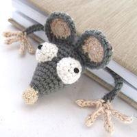 marque-page Rat au crochet Amigurumi Crochet Rat Bookmark Featured Image                                                                                                                                                      Plus
