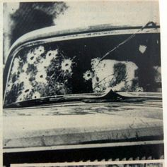 Windshield Of Bonnie & Clyde's Car
