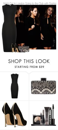 """""""Night Out in London Going to the Club with Sophia"""" by elise-22 ❤ liked on Polyvore featuring Victoria Beckham, Lane Bryant, Casadei and LORAC"""