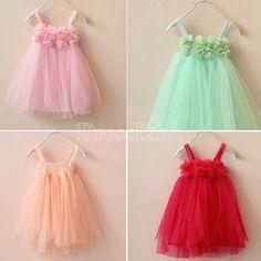 Girls Kids Sleeveless Dress Princess Tulle Dress