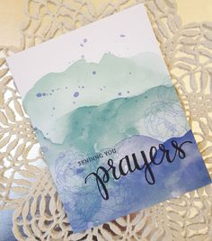 https://flic.kr/p/C2VB7B | prayers 2 | a one layer card for the current SSS flickr challenge. I used the SSS/Hero Arts Prayers stamp set along with a stamp set from Concord & 9th (Shine Brighter). I stamped the flower (from Shine Brighter) using Ranger Distress Ink Shaded Lilac and then added some clear Wink of Stella to the centers of the flowers. The sentiment was stamped and then black Wink of Stella added to the word prayer. I did not color the background on the card base. It is...