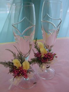 Champagne glass decorations
