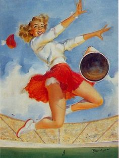 pin up cheerleader