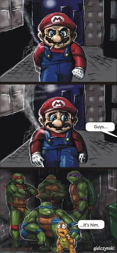 Funny pictures about Mario Is In Trouble. Oh, and cool pics about Mario Is In Trouble. Also, Mario Is In Trouble photos. Memes Humor, Funny Jokes, Hilarious, Geek Culture, Video Game Memes, Video Games, Anime Meme, Gaming Memes, Teenage Mutant Ninja Turtles
