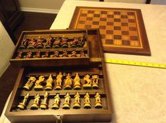 vintage carved wooden figural chess set | Toys & Hobbies, Games, Chess | eBay!