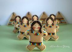 Dulcerías de Almudena: Galletas de Indios Sioux - Adorable Native American Indian cookies