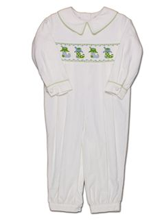 BOYS Hand Smocked Clothes - Smocked or appliqued shortalls, longalls, bubbles, jon jons, rompers, polos, short sets, or bathing suits for children, infants, and toddlers. Boutique children's apparel at discount prices. Shrimp and grits Kids. Easter