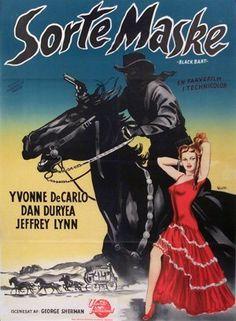 BLACK BART (1948) - Yvonne DeCarlo - Dan Duryea - Jeffrey Lynn - Directed by George Sherman - Universal-International Pictures - Movie Poster.