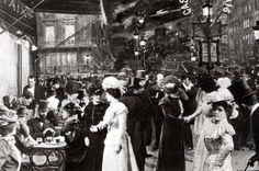 Café de la paix - Paris circa 1900  #Vintage #Victorian Belle époque