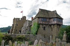 Stokesay Castle is a fortified manor home near Craven Arms, Shropshire, England, built in the 13th Century.