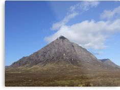 Buachaille Etive Mor in the Highlands of Scotland , May 2009 Highlands, Scotland, Print Design, Framed Prints, Artists, Wall Art, Metal, Unique, Metals