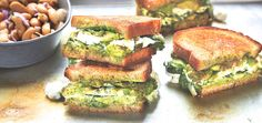 Spinach Pesto Grilled Cheese | Chef'd