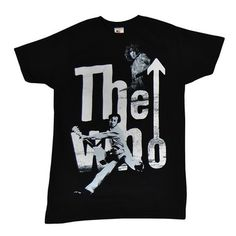 This men's black tee features The Who's 'Guitar Player' design on the front. Slim Man, Mens Tees, Guitar, Store, Music, Fashion, Sweatshirts, T Shirts, Musica