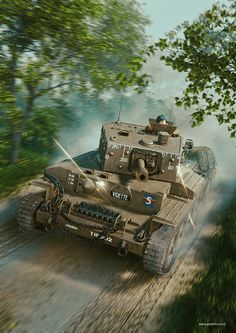 Centaur tank cover illustration for Britain at War Magazine, Piotr Forkasiewicz Military Weapons, Military Art, Military History, Ww1 Tanks, Tank Wallpaper, D Day Normandy, Ww2 Pictures, War Thunder, Tiger Tank
