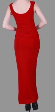 BG1568 Selling price $199, Dark red, simple, elegant and fitting in stretch fabric. Small diamante detail on the shoulder. Also available in blue and black.