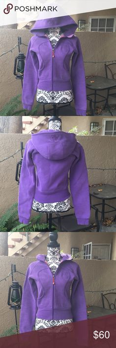 ❤️ lululemon scuba hoodie Lululemon scuba hoodie size 6. In a beautiful purple color, thick warm material and no thumb holes. gently worn in EUC. From pet free smoke free home lululemon athletica Jackets & Coats