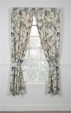 Brissac Jacobean Print panels window curtains with tie backs are a polyester panel curtains style made with colorful jacobean floral design available in blue, black and red color patterns. Can be ordered in 54 inch lengths Rod Pocket Curtains, Rod Pocket Panel, Bamboo Panels, Curtains, Panel Curtains, Floral Prints, Tailored Curtain, Printed Curtains, Window Toppers