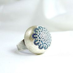 Ring | Andrea Bacman. Silver with enamel