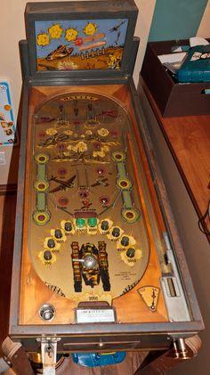 1935 - Bally - Battle Mini Arcade, Penny Arcade, Flipper Pinball, Pinball Wizard, Traditional Games, School Games, Mini Games, Arcade Games, Old School