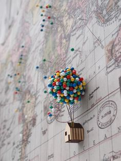 balloon house pin cushion.