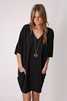freedom black tunic dress