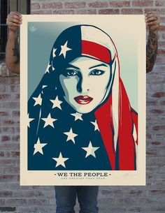 'Hope' Artist Shepard Fairey Made Some Commanding Poster Art For The March On D.C. | The Huffington Post