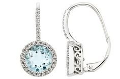 Luxurious aquamarine & diamond earrings that will go with anything!