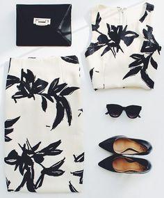 Get Aloha Cream Print Two-Piece Dress