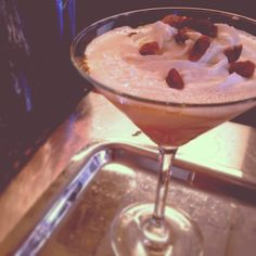 The Fireside Martini: a holiday party in a glass. Seasonal Specials Menu 2013 #SoEatingThis #Houlihans