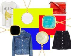 Styling by sofiemwe showing Bubble Facet Pendant White Xlarge Gold, Bubble Facet Square Pendant Black Gold, Bubble Facet Square Pendant Sky Blue Gold and Bubble Facet Pendant Honeydew Gold #jewellery #Jewelry #bangles #amulet #dogtag #medallion #choker #charms #Pendant #Earring #EarringBackPeace #EarJacket #EarSticks #Necklace #Earcuff #Bracelet #Minimal #minimalistic #ContemporaryJewellery #zirkonia #Gemstone #JewelleryStone #JewelleryDesign #CreativeJewellery #OxidizedJewellery #gold…